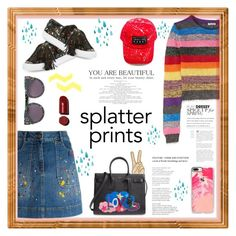 """Splatter prints 🎨"" by xanniee on Polyvore featuring Alice + Olivia, Miu Miu, Loeffler Randall, Yves Saint Laurent, Casetify, STELLA McCARTNEY and Lucky Brand"