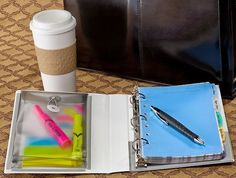 Make your own personalized binder to help keep you organized. #avery