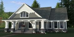 craftsman House Plan with 3 Bedrooms and Baths - Plan 9669 sitzecke hauswand craftsman House Plan with 3 Bedrooms and Baths - Plan 9669 House Plans One Story, New House Plans, Story House, House Floor Plans, The Plan, Bungalow House Plans, Craftsman Style House Plans, Craftsman Exterior, Craftsman Homes