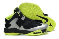 dfd2bf0d489e8 Nike Zoom Soldier 6 Black Silver Green Nike Heels