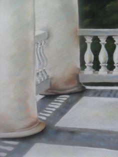 """Twin Columns"" an original pastel painting by Darryl d. Alello"