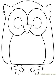 Printable Halloween Coloring Pages | Coloring Pages Owl Coloring 04 (Birds > Owl) - free printable coloring ...