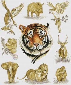Cross Stitch Needles, Cross Stitch Kits, Cross Stitch Patterns, Cross Stitch Embroidery, Embroidery Patterns, Cross Stitch Animals, Beaded Animals, African Animals, Stuffed Animal Patterns
