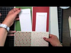 Stampin' Up! Video Tutorial- Holiday Planner Stampin' Up! Style - YouTube