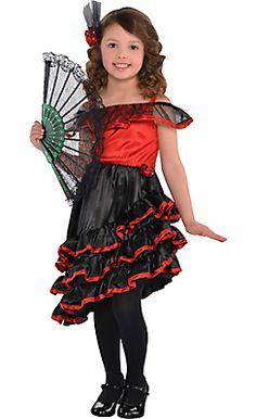 f3af11d5d Flamenco Dancer Girls Costume - Spanish Costumes