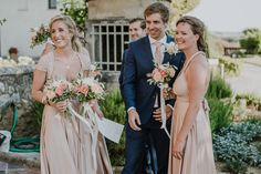Multiway Dresses - love this gorgeous photo of Emma's bridesmaids in their GBN Rosey Posey Signature gowns #wedding #bridesmaids #multiway #dresses