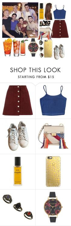 """""""Night out in Portugal with Niall and friend´s"""" by zandramalik ❤ liked on Polyvore featuring Miss Selfridge, adidas, Chloé, Chanel, Casetify and Topshop"""