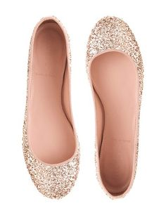 Nora Glitter Ballet Flats by J. Crew