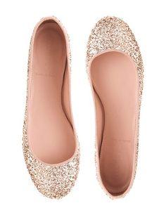 J Crew Glitter Ballets. Ballerines à paillettes