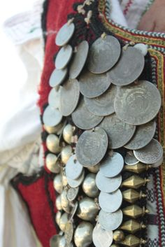 Traditional Albanian costume detail