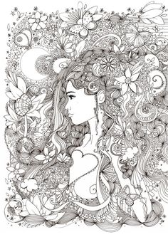 Doodle Coloring pages colouring adult detailed advanced printable Kleuren voor volwassenen coloriage pour adulte anti-stress kleurplaat voor volwassenen Line Art Black and White http://hannahchapman.deviantart.com/art/Butterfly-Nature-428976181