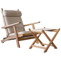 Hans Wegner AP72 AP Stolen Oak Lounge Chair and Ottoman, Danish Vintage Modern | From a unique collection of antique and modern lounge chairs at https://www.1stdibs.com/furniture/seating/lounge-chairs/