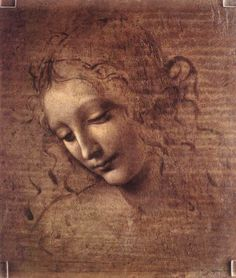 Head of a Young Woman with Tousled Hair (Leda), 1508 Leonardo da Vinci