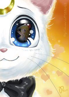 Artemis see minako or sailor venus Sailor Jupiter, Sailor Venus, Sailor Moon Luna, Sailor Moons, Sailor Moon Fan Art, Disney Marvel, Otaku Anime, Luna Et Artemis, Sailor Moon Personajes