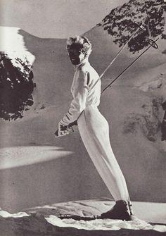 The great German Nordic skier Willy Bogner Sr. designed the first stretch ski pants in 1948 for his own Bogner ski wear line. Alpine Skiing, Snow Skiing, Vintage Ski Posters, Ski Bunnies, Ski Fashion, Vintage Winter, Ski And Snowboard, Poppies, Utah