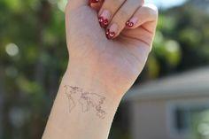 41 Best Small World Tattoo images | World map tattoos, World tattoo ...