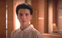 """LOVING Juliette Binoches early 90's minimalist wardrobe in the 1992 movie """"Damage"""". The haircut is amazing as well."""