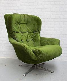 Retro vintage 70s 80s danish swivel lounge armchair chair for 70s egg chair