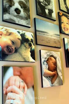 25 Easy DIY Projects for the Home including this DIY Canvas Photo Gallery Wall!!!