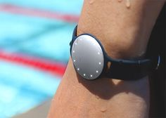 Speedo Shine by Misfit - Misfit's Speedo Shine is the world's first activity tracker designed for swimmers. Inside the lightweight, aircraft grade aluminum case, motion-sensing algorithms track lap count and distance no matter what stroke you swim. | werd.com