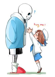 Undertale- Sans and Frisk.