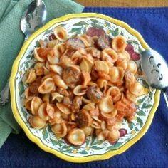 Sausage Ragu with Orecchiette Pasta recipe