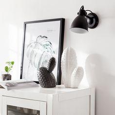 Figura de cactus de cerámica en color gris inuk home