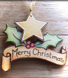 *♥* Wooden Personalised Christmas Scroll *♥* **InSpiRaTiOn  Only**