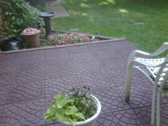 """Great product, easy to install."" - Customer review of Envirotile 18 in. x 18 in. Bella Rocca Earth Pavers"