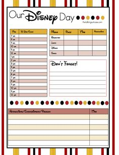 Are you planning a trip to the happiest place on earth? Print our FREE printable Disney vacation planner. Set includes 4 sheets. Viaje A Disney World, Disney World Tipps, Disney World Packing, Disney World Vacation Planning, Disneyland Vacation, Vacation Planner, Walt Disney World Vacations, Disney World Tips And Tricks, Disney Tips
