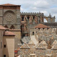 Ávila's cathedral and ramparts Castilla y León Spain.
