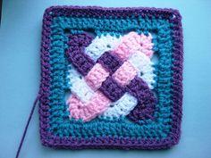 Crochet Knitting Handicraft: Celtic weave motifs
