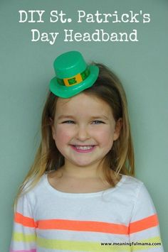 DIY St. Patrick's Day Headband that Cost 50 Cents to Make