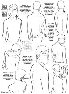 Over the Shoulder (male) Tutorial by ~DerSketchie on deviantART