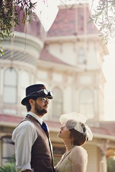 Big Bear Lake Arrowhead Redlands Morey Mansion Venue Southern California Indie Steampunk Wedding Photographer Engagement Photos