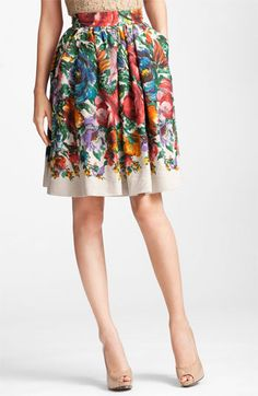 Dolce Flower Print Skirt available at #Nordstrom