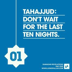 Ramadan Revelations # 01