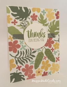 Suite Sayings Clear-Mount Stamp Set, Botanical Blooms Photopolymer Stamp Set, Botanical Gardens Designer Series Paper, #theCARDiologist, Maggie Mata, Stampin' Up!
