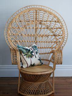 Natural Moon Chair I I Home Decor I Rattan Furniture Thatch Hutch