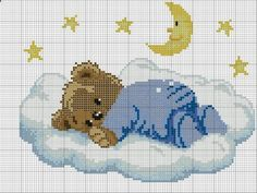 Thrilling Designing Your Own Cross Stitch Embroidery Patterns Ideas. Exhilarating Designing Your Own Cross Stitch Embroidery Patterns Ideas. Baby Cross Stitch Patterns, Cross Stitch For Kids, Cross Stitch Baby, Cross Stitch Charts, Cross Stitch Designs, Baby Embroidery, Cross Stitch Embroidery, Embroidery Patterns, Tatty Teddy