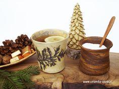 ceramic cup and sugar bowl
