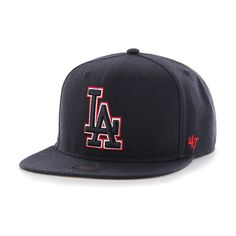 9a5e8fae3a9def Los Angeles Dodgers No Shot Captain Navy 47 Brand Adjustable Hat