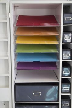 Description Our Acrylic Paper Shelving fits perfectly into our 13X13 spaces. Place pegs and rods in your WorkBox, MiniBox, EZView Desk, or the Teresa Collins St