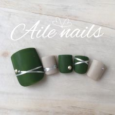 Pedicure, toenails Pedicure Designs, Pedicure Nail Art, Toe Nail Designs, Toe Nail Art, Glam Nails, Matte Nails, Cute Pedicures, Green Nail Designs, Feet Nails