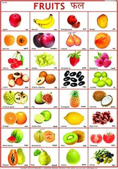 Buy Fruits Chart (50 x 70 cm) Book Online at Low Prices in India | Fruits Chart…
