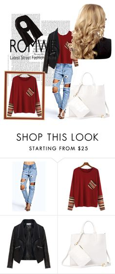 """""""Contrast Sleeve Pocket Loose T-SHIRT"""" by neiraalajmovic ❤ liked on Polyvore featuring Boohoo, Zizzi, Soia & Kyo and romwe"""