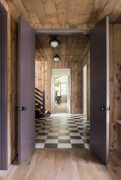 checkered flooring Sullivans Island Beach, Ikea Hemnes Bed, Window Mirror Decor, Oak Wardrobe, Entryway Flooring, Surf Shack, Rustic Room, Natural Home Decor, Entry Hall