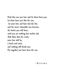 When You've Been The Sun by Atticus