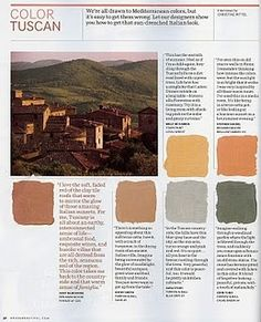 Circa: Tuscan Color the green Rustic Italian, Italian Style, Wall Colors, House Colors, Tuscan Colors, Tuscan House, Tuscan Decorating, Decorating Ideas, Spanish House