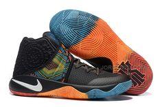 """http://www.jordan2u.com/nike-kyrie-2-ii-bhm-blackredorangeblue-kyrie-sneakers-sale.html Only$69.00 #NIKE KYRIE 2 II """"BHM"""" BLACK/RED-ORANGE-BLUE KYRIE SNEAKERS SALE #Free #Shipping!"""